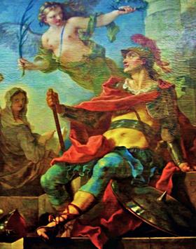 Clovis couronné - peinture de Charles Natoire