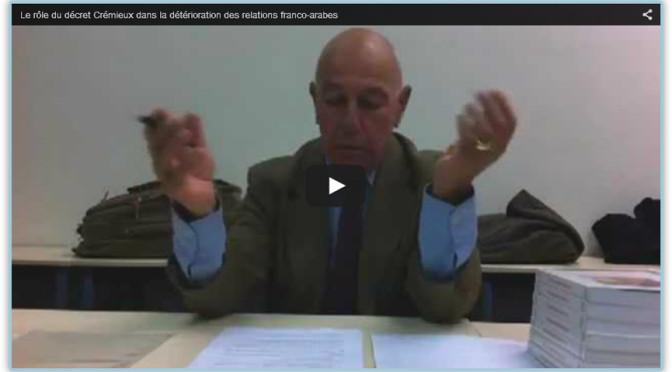 Le rôle du décret Crémieux dans la détérioration des relations franco-arabes