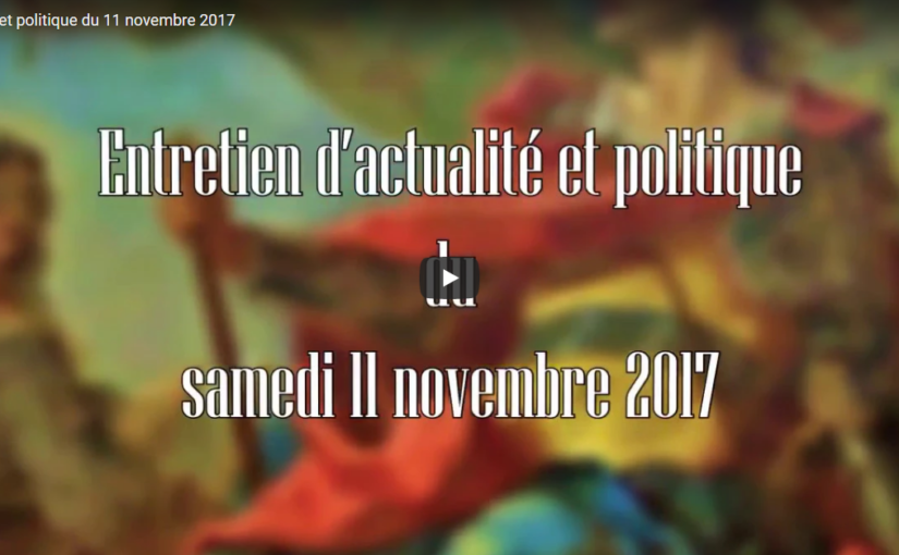 Actualité et politique du 11 novembre 2017